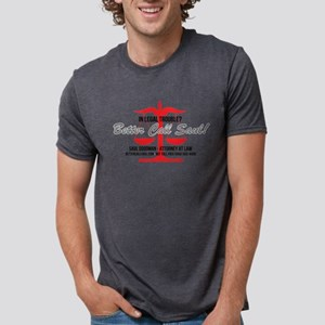 Better Call Saul Red Light Mens Tri-blend T-Shirt
