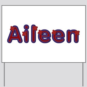 Aileen Red Caps Yard Sign