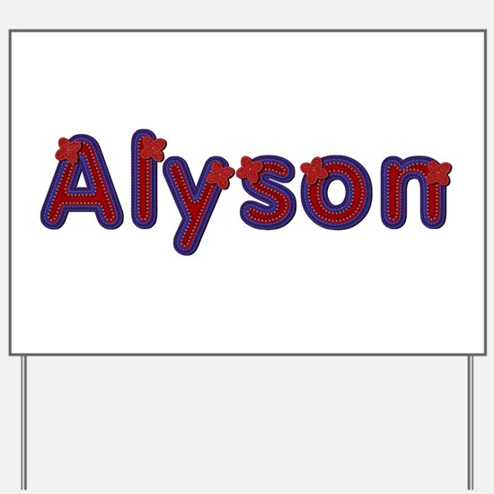 Alyson Red Caps Yard Sign