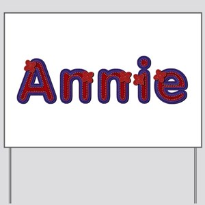 Annie Red Caps Yard Sign