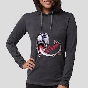 Venom Face Womens Hooded Shirt