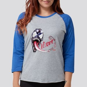 Venom Face Womens Baseball Tee