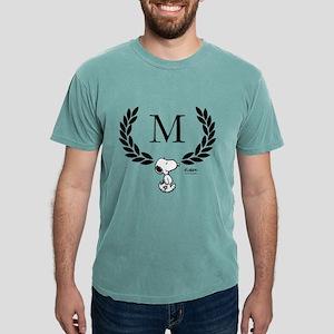Snoopy Monogram  Mens Comfort Colors Shirt