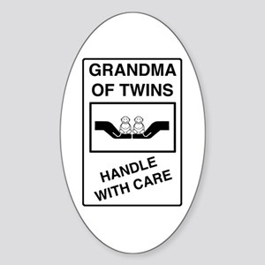 Grandma Handle With Care Oval Sticker