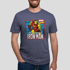 Marvel Retro Iron Man Mens Tri-blend T-Shirt
