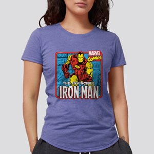 Marvel Retro Iron Man Womens Tri-blend T-Shirt