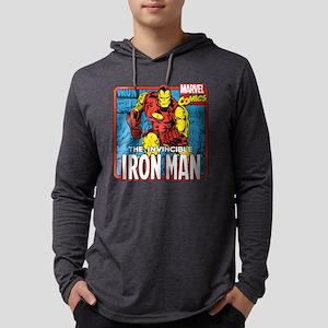 Marvel Retro Iron Man Mens Hooded Shirt