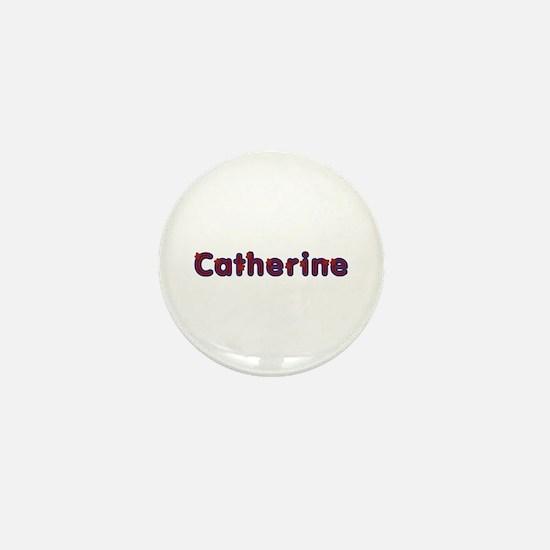 Catherine Red Caps Mini Button