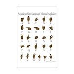 ASL Alphabet Mini Poster Print