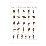 ASL Alphabet Postcards (Package of 8)