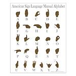ASL Alphabet Small Poster
