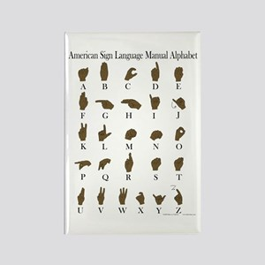 ASL Alphabet Rectangle Magnet