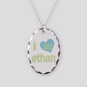 I Love Ethan Lying Game Necklace Oval Charm