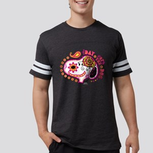 Day of the Dog Snoopy Face Dar Mens Football Shirt