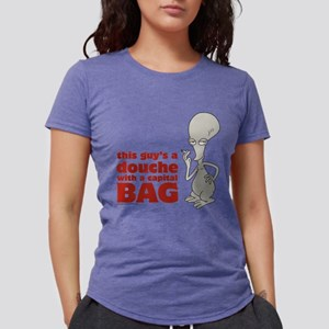 American Dad Douche Bag L Womens Tri-blend T-Shirt