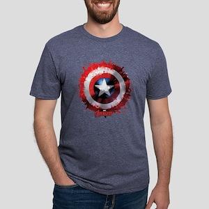 Avengers Cap Shield Spatter Mens Tri-blend T-Shirt