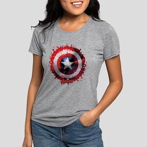 Avengers Cap Shield Spatt Womens Tri-blend T-Shirt