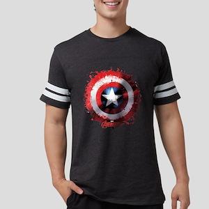 Avengers Cap Shield Spattered Mens Football Shirt