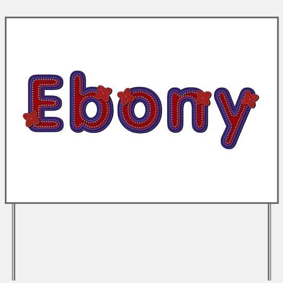 Ebony Red Caps Yard Sign