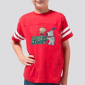 Pick Up My Poop Dark Youth Football Shirt