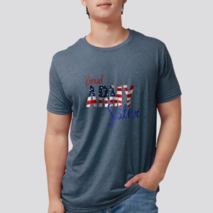 Proud Patriotic Army Sister Mens Tri-blend T-Shirt