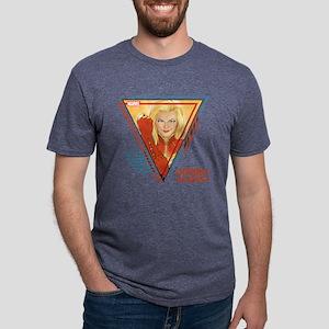 Captain Marvel Triangle Mens Tri-blend T-Shirt