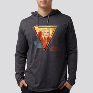 Captain Marvel Triangle Mens Hooded Shirt