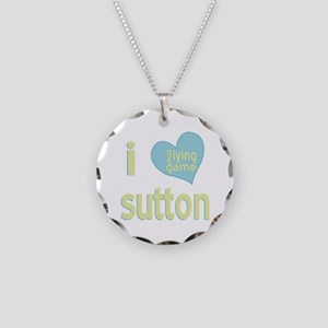 I Love Sutton Lying Game Necklace Circle Charm