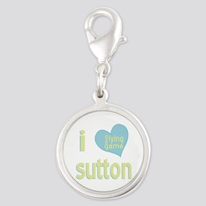 I Love Sutton Lying Game Silver Round Charm