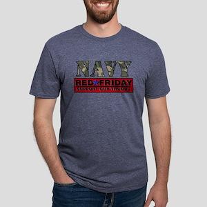 Red Friday_Logo_Navy Mens Tri-blend T-Shirt