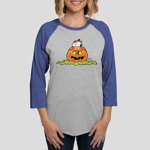 Day of the Dead Snoopy Pumpkin Womens Baseball Tee