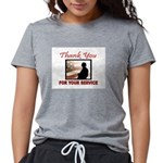 THANK YOU Womens Tri-blend T-Shirt
