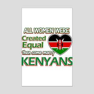 Kenyan husbands designs Mini Poster Print