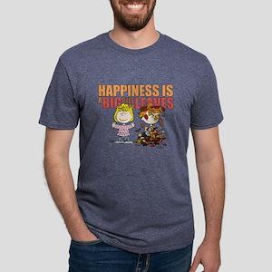 Peanuts Fall Leaves  Mens Tri-blend T-Shirt