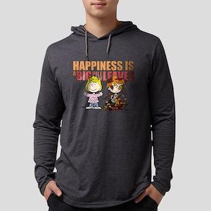 Peanuts Fall Leaves  Mens Hooded Shirt
