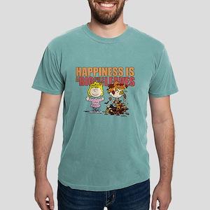 Peanuts Fall Leaves  Mens Comfort Colors Shirt