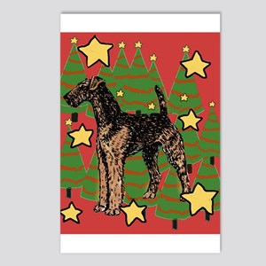 Christmas_Airedale Postcards (Package of 8)