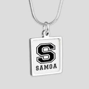 Samoa Designs Silver Square Necklace