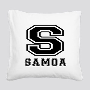 Samoa Designs Square Canvas Pillow