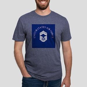USAFChiefMasterSergeantCloc Mens Tri-blend T-Shirt