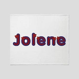 Jolene Red Caps Throw Blanket