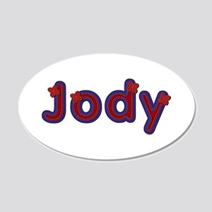 Jody Red Caps 20x12 Oval Wall Decal