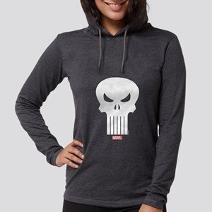Punisher Skull Womens Hooded Shirt