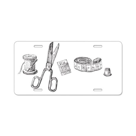 Tools of the Trade - Sewing Aluminum License Plate