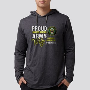Proud Army WIfe Supporting Mens Hooded Shirt