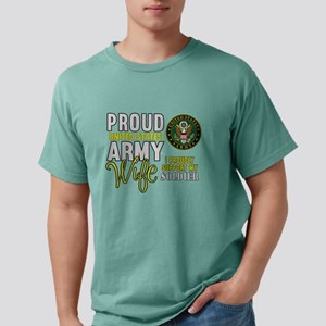 Proud Army WIfe Supporti Mens Comfort Colors Shirt