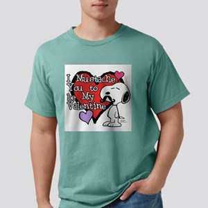 Snoopy - Mustache You Mens Comfort Colors Shirt
