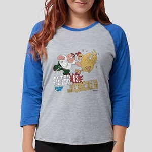 Peter vs Chicken Light Womens Baseball Tee