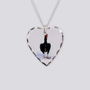 Bruno in snow Necklace Heart Charm