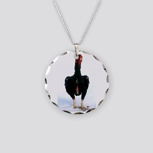 Bruno in snow Necklace Circle Charm
